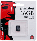 Карта памяти Kingston microSDHC 16GB Class 10